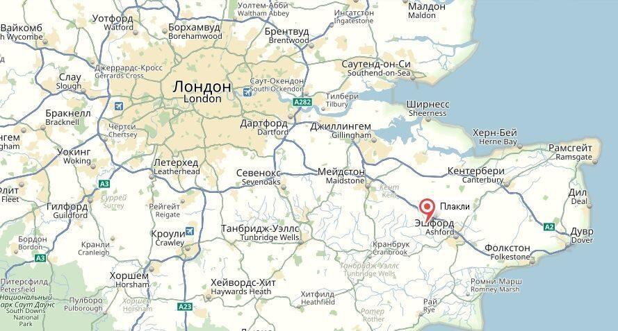 деревня Плакли на карте