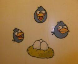 наклейки для стен angry birds