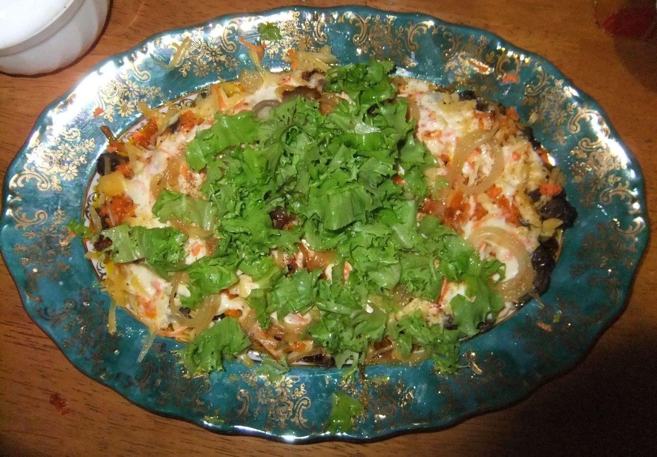 Салат с сердцем пошагово